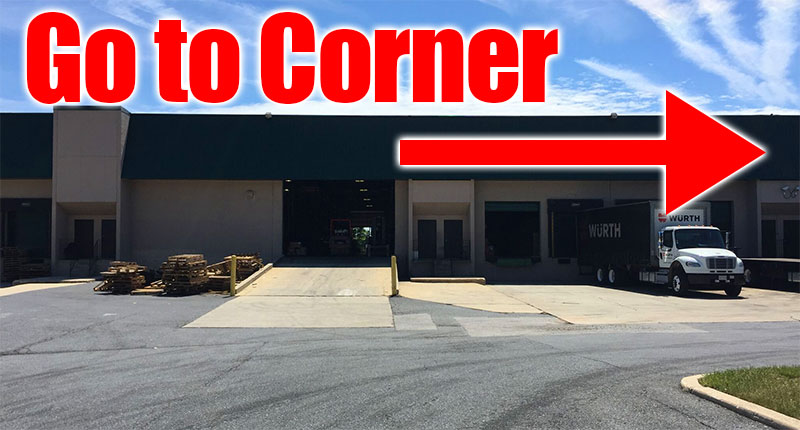 Our offices and warehouse are on the corner.